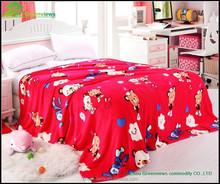 Wholesale travel soft fleece baby blanket,animal printed mink blanket for campGVMT10204