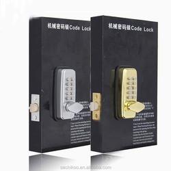 Stain nickel MINI Mechanical pushbutton digital Door Lock