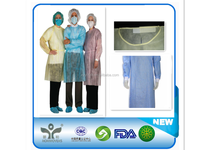 Factory medical disposable isolation gown/ visit coat with CE ISO FDA certificates