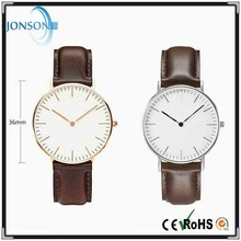 Stainless steel 6mm thin minimal japan movt man minimalist custom made watch dials