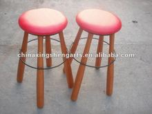 round wooden lounge bar chair