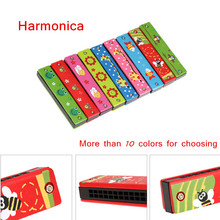 Educational Toy Musical Instruments Tremolo Harmonica 16 Holes Harmonica Musical Toy Gift for Kids