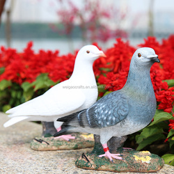 life size pigeon garden ornaments pigeon white/gray dove ornament