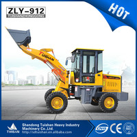 Chinese farm tractor small loader mini 1 ton wheel loader with price for sale