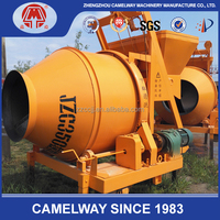 JZC350 drum concrete mixer with hoist bucket