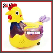 Elétrica brinquedo plástico frango põe ovos / bonito galinha põe ovos brinquedo para crianças brinquedo Alpinia oxyphylla