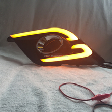 High quality led daytime running light for Mazda 3 Axela With Yellow Turn Signal Function