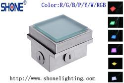 High quality Toughness glass 12-19mm 1.3W DC14V/24V RGB load min. 2,000 kg outdoor luminous pavers