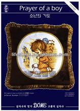Cartoon cross-stitch hand embroidery design patterns creative pillow case