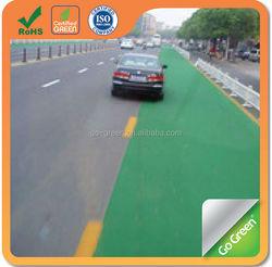 Color asphalt sealer paving on colorful road surface