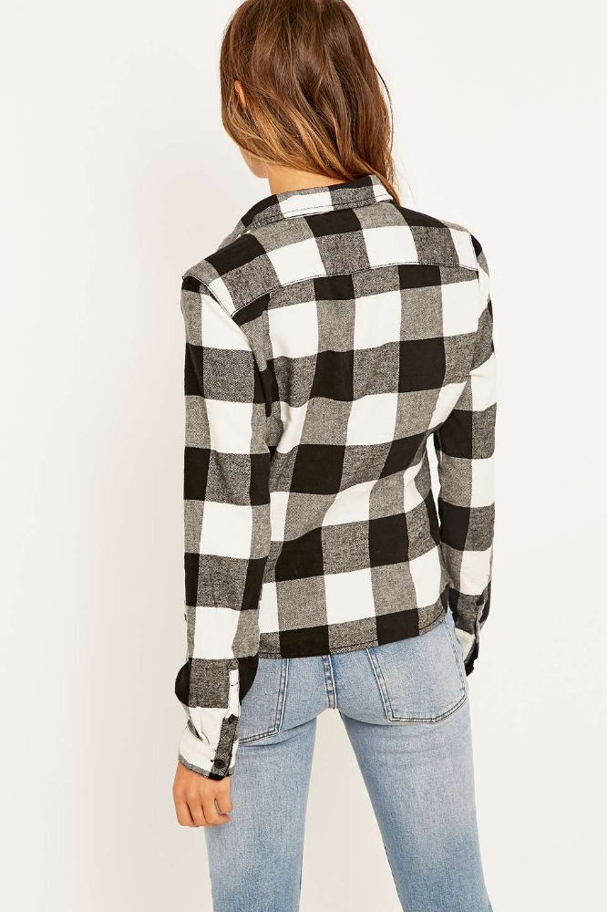 Wholesale 2016 new women flannel button down shirts view for Places to buy flannel shirts