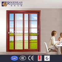 Rogenilan aluminum door grille design double pane japanese shoji sliding door