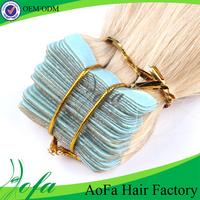 Wholesale brazilian keratin highlight tape hair extensions