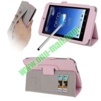 Wrinkly Texture style for asus memo pad hd 7 me173 leather case with Holder & Credit Card Slots & Elastic Hand Strap & Touch Pen