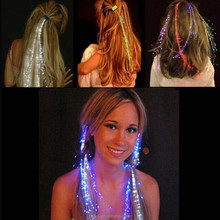 Led Fiber Optic Lighting Hair Clip Extension Halloween Party Props