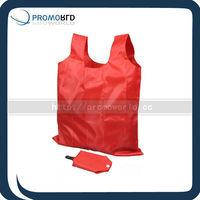Clip folding shopper bag reusable shopping bag with plastic clip