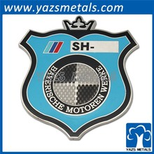 soft enamel 3D metal car emblem medal with sticker