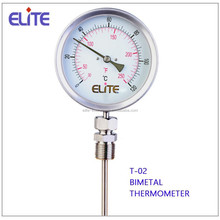 T-02 Bimetal thermometer industrial temperature gauge