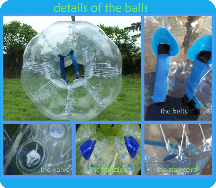 PVC or TPU Material and Inflatable Toy Style football inflatable body zorb ball