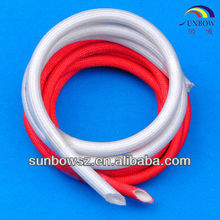 UL&CSA certification High voltage Insulation silicone rubber fiberglass sleeve coated silicone resin outside