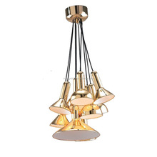 China Supplier Hot Contemporary LED Flexible Torch Pendant Light With Golden Chrome Metal Pendant Light