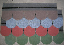 cheap fish scale asphalt shingle/ roof tiles in China