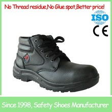 SF1822 Sport style black comfortable acid resistant steel toe high ankle safety shoes low price