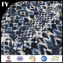 FY printed custom new design high quality digital snake skin printed silk fabric