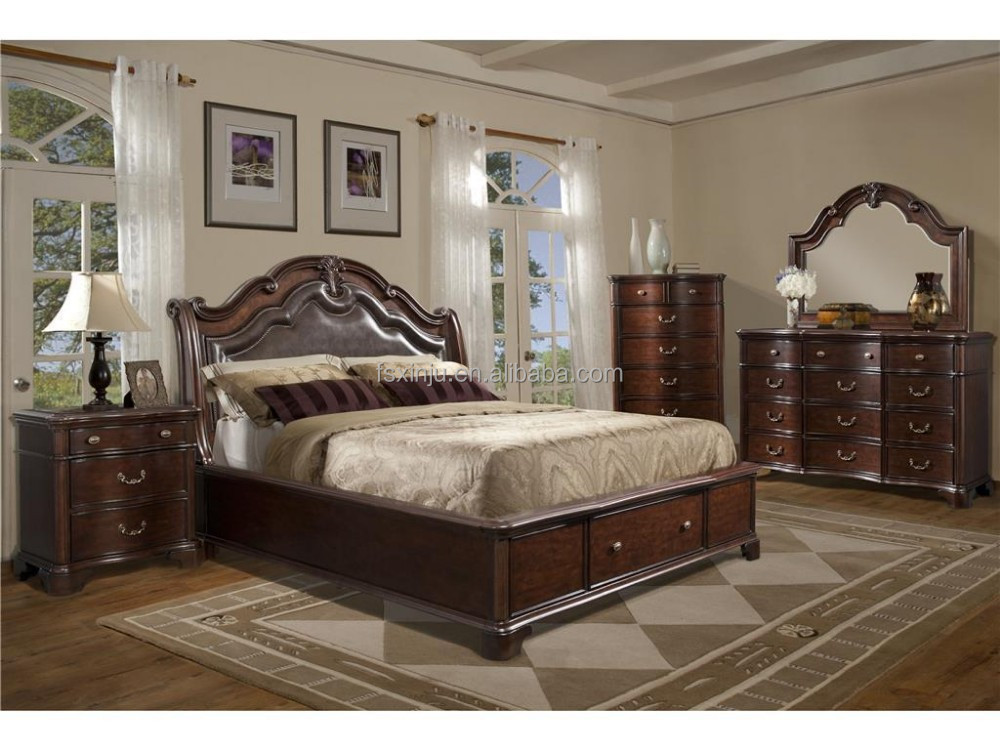 tabasco king bed amercian style solid wood bedroom as