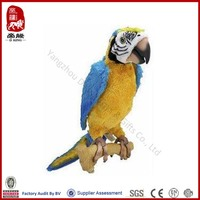 promotional gift soft plush parrot toys