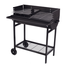 New arrival top 10 park trolley barrel standing bbq grill