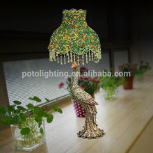 Brand new home decorative table lamp made in china with Polly Peacock Lamp Socket