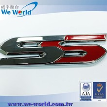 Best finish glossy chrome custom made metal letters for car emblem