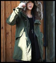2015 new design vogue european style fishtail military fur parka designer men winter coat
