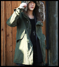 2015 new design vogue european style men fishtail military fur parka designer winter coat