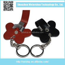 New style Oem multi-partition 4Gb Leather special design usb drive