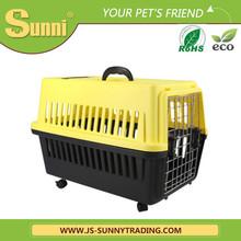 animale domestico cane gatto vettore con ruote di plastica portatile trasportino