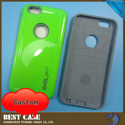 2016 newest pc+tpu shockproof protective case for iphone 6s gummy combo cover