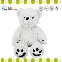 Big teddy bear 2015 new hot sales pure white feet palm print plush bear