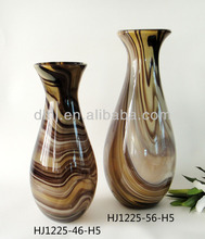 Home Decorative Glassware in Amber
