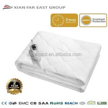 CE GS CB Safet Approved 3 Temperature Auto Switch Off Fitted Cotton Electric Under Blanket