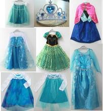 Halloween Party Light Blue Alice In Wonderland Kids Girl Costume Dress 3-9Year
