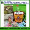 Custom promotion ice beer tin bucket bottle holder