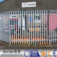 ISO9001 and CE factory hot dipped galvanized and pvc coatedpalisade fence for garden Since 1989