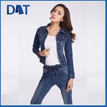 Dark wash long sleeves wholesale denim jackets