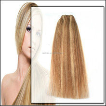 Factory Price 6A Grade Piano Color Brown And Blonde Brazilian Virgin Remy Human Straight Hair