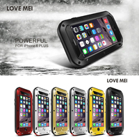 Original LOVE MEI For Iphone 6 Plus Waterproof Shock Case