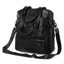 Newest high quality drop shipping top grade multifunctional fashion gray genuine leather laptop backpack # 7065J