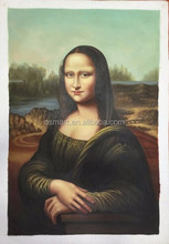Strong Artists Team Handmade High Quality The Mona Lisa Da Vinci Oil Painting Reproduction for Living Room Wall Decoration