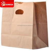 Food Grade Paper Packaging Takeaway Groceries Supermarket Bag